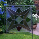 glas-in-lood     tuinobject Ster